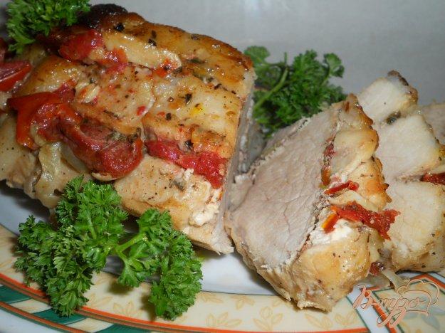 Рецепт Свинина маринованная, запеченная в рукаве