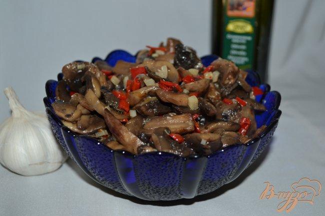 Фото приготовление рецепта: Острая грибная закуска шаг №4