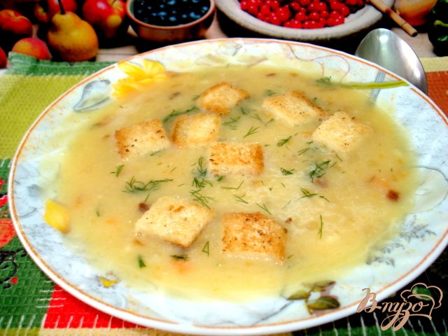 Фото приготовление рецепта: Суп пюре гороховый шаг №6