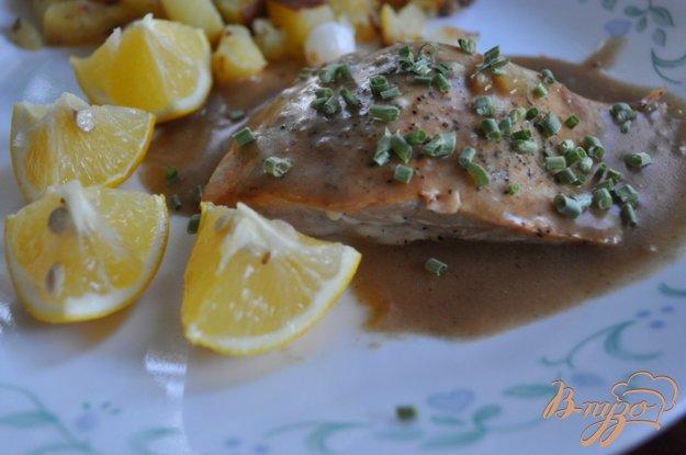 Рецепт Семга в винном соусе