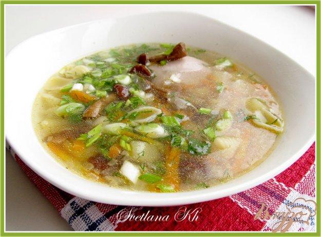 фото рецепта: Суп с курицей и грибами