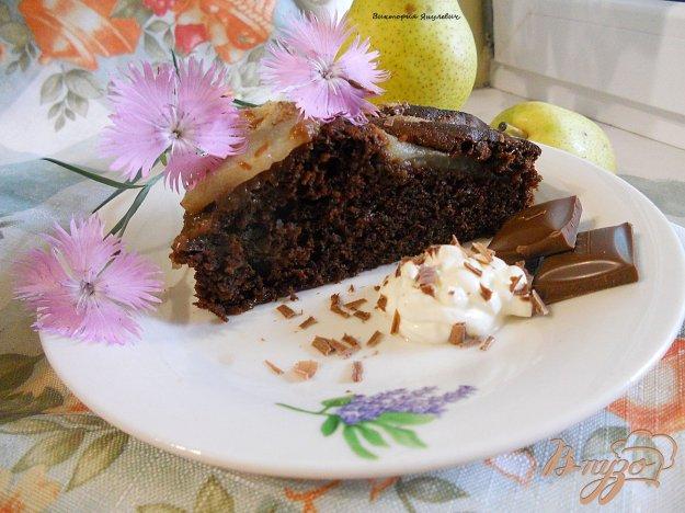 Рецепт Шоколадный торт с грушами