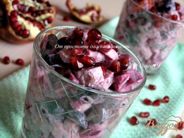 Рецепт Свекольный фьюжн-салат с запеченной свининой и курагой