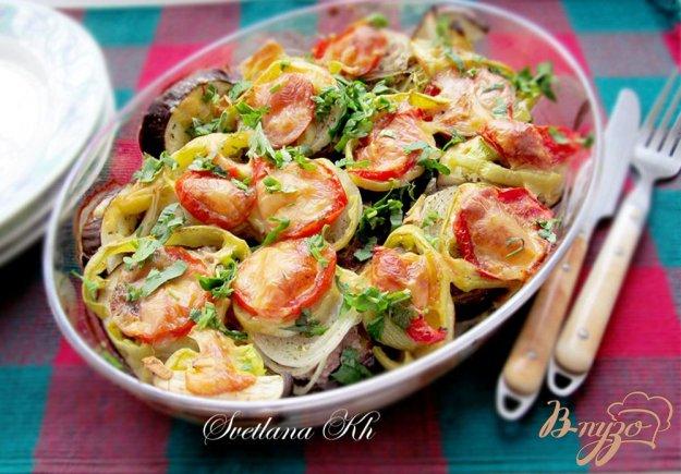 Рецепт Баклажаны с мясом и овощами