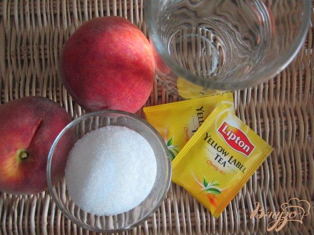 Фото приготовление рецепта: Холодный персиковый чай ( ice tea) шаг №1