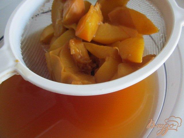 Фото приготовление рецепта: Холодный персиковый чай ( ice tea) шаг №4
