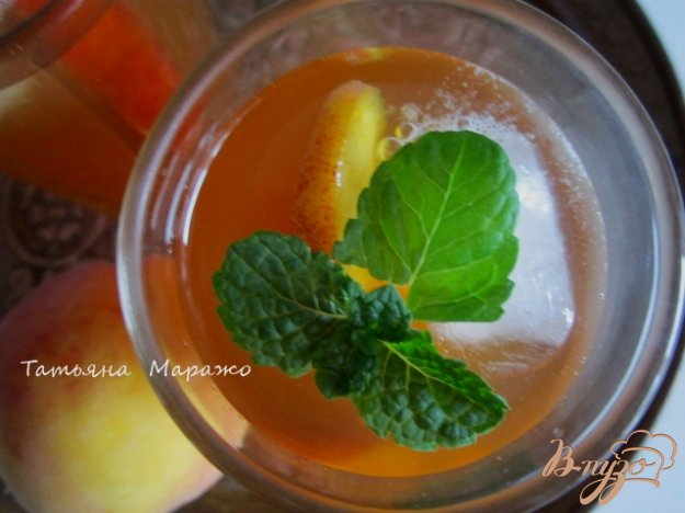 фото рецепта: Холодный персиковый чай ( ice tea)