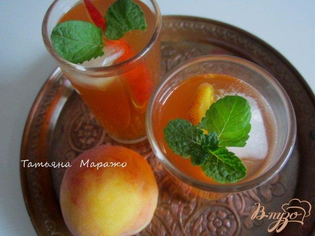 Фото приготовление рецепта: Холодный персиковый чай ( ice tea) шаг №6