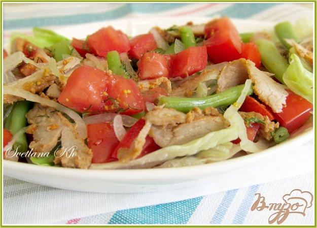 Рецепт Салат с мясом и стручковой фасолью