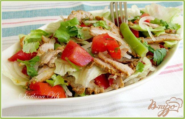 салат из стручковой фасоли с мясом рецепт с фото очень вкусный
