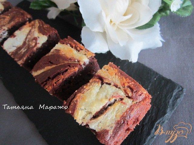 Фото приготовление рецепта: Брауни.. немножко мраморные шаг №9