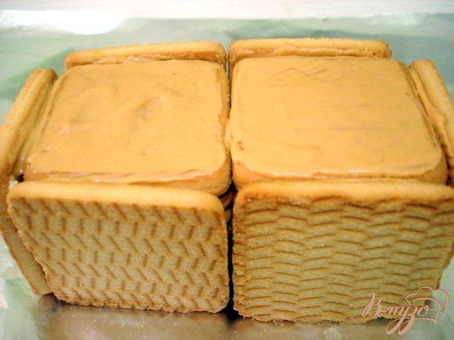 Фото приготовление рецепта: Пирожное без выпечки шаг №6
