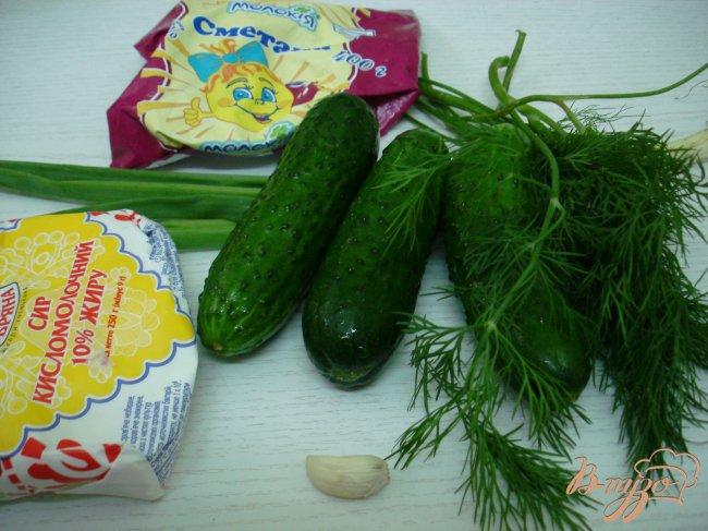Фото приготовление рецепта: Огурцы с творогом шаг №1