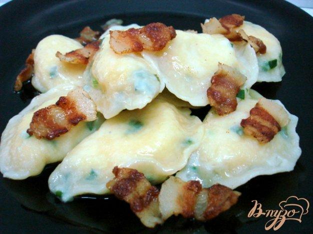 Рецепт Вареники с картофелем - тесто на сметане с луком