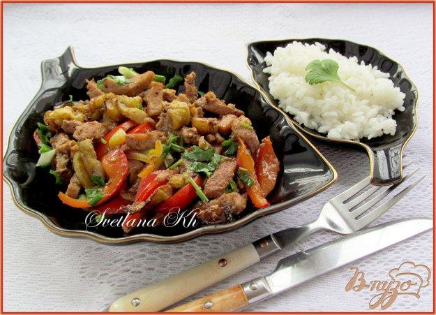 Рецепт Баклажаны с курицей по-пекински