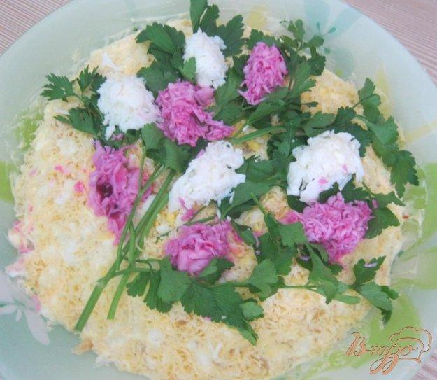 Салат букет сирени фото