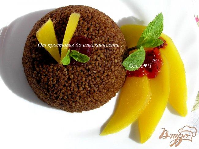 Фото приготовление рецепта: Шоколадный кускус с теплым манго и мятой. шаг №6