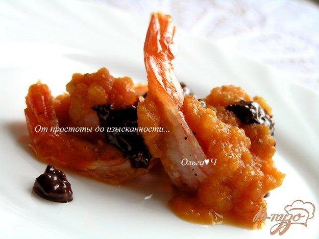 Рецепт Креветки под шоколадным соусом