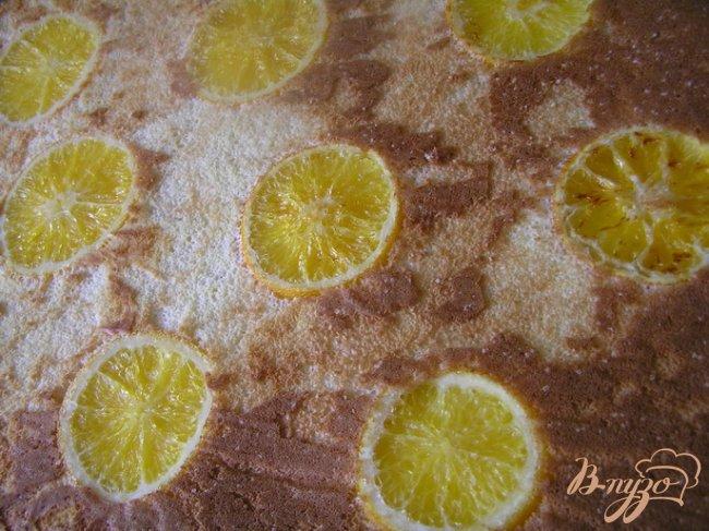 Фото приготовление рецепта: Цитрусовый бисквитный рулет шаг №13