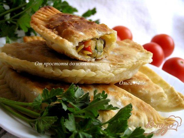 Рецепт Чебуреки с желтой чечевицей и грибами