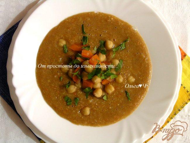 Фото приготовление рецепта: Пряный суп с нутом, овощами и тмином шаг №6