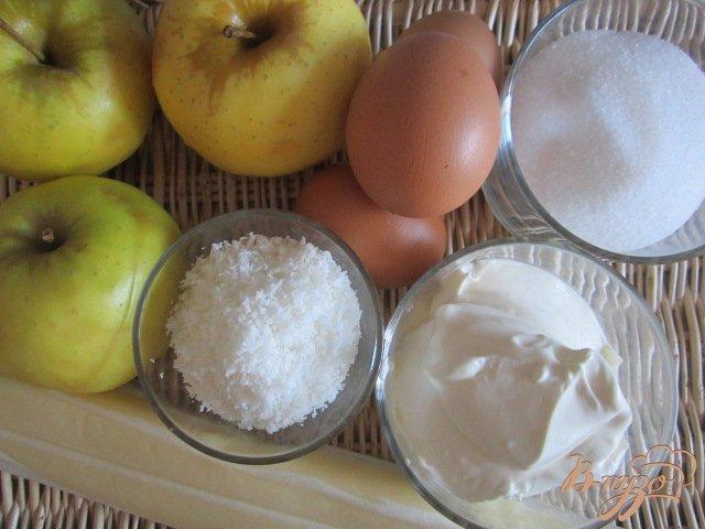 Фото приготовление рецепта: Пирог с яблоками шаг №1