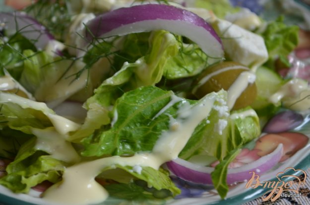 Рецепт Салат простой с сыром фета