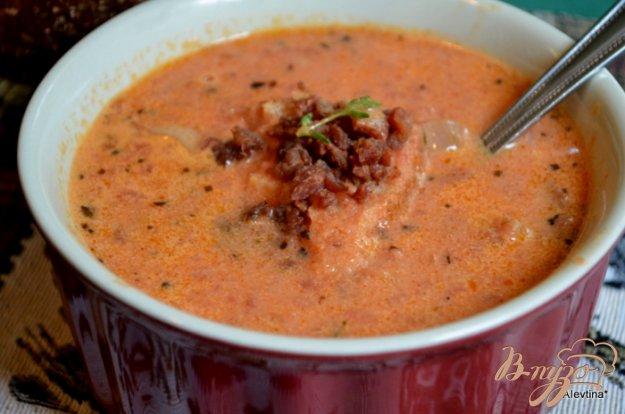 Рецепт Томатный суп с беконом