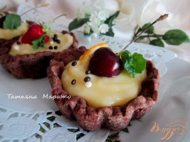 Рецепт Шоколадные тарталетки с лимонным кремом
