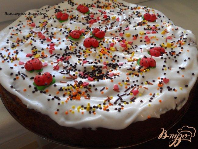 Фото приготовление рецепта: Пасхальный финиковый пирог шаг №5