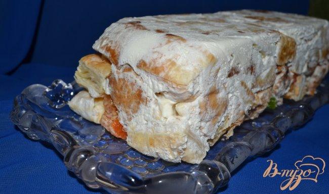 Фото приготовление рецепта: Десерт из слоеного теста шаг №6