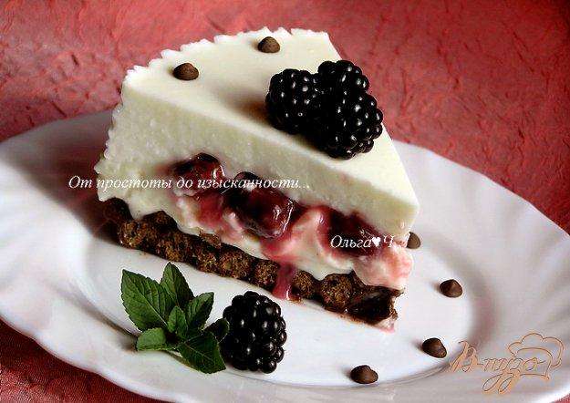 Рецепт Творожно-зефирный торт с вишней
