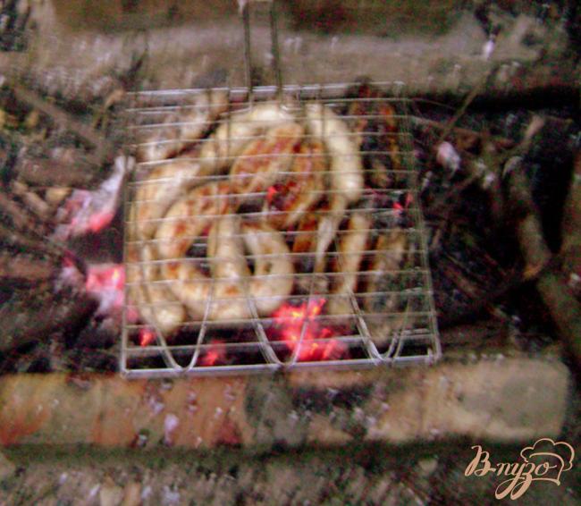 Фото приготовление рецепта: Колбаски куриные шаг №4