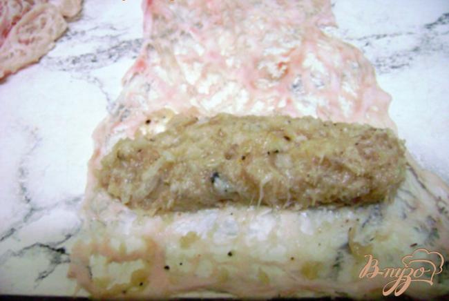 Фото приготовление рецепта: Колбаски куриные шаг №3