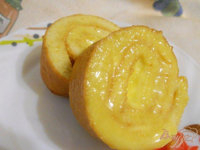 Фото приготовление рецепта: Лимонный рулет шаг №6