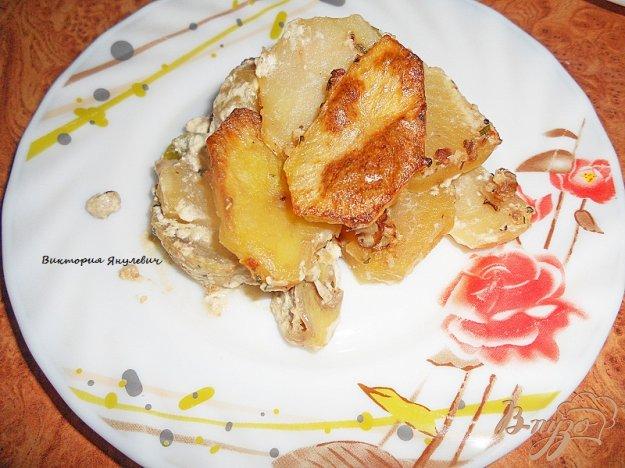 Рецепт Картофельно - кабачковая запеканка