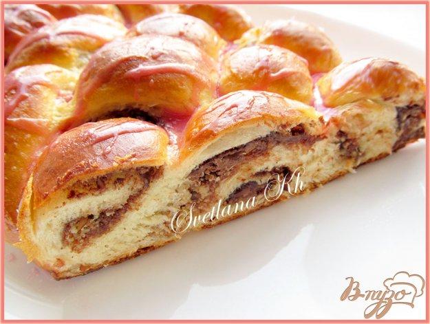 Рецепт Плетенка из пяти жгутов с орехами и шоколадом