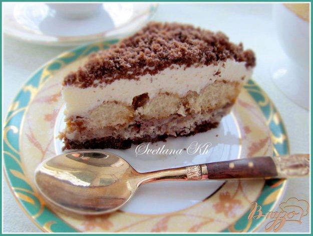Рецепт Десерт с халвой , клюквой и сливками