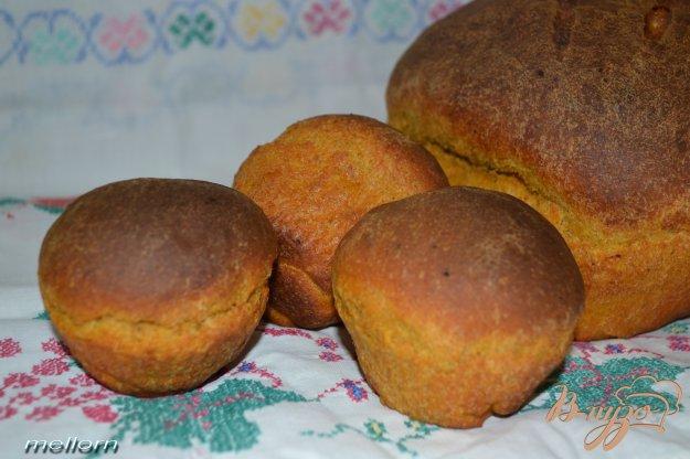 фото рецепта: Ржано-пшеничный хлеб с кабачковой икрой