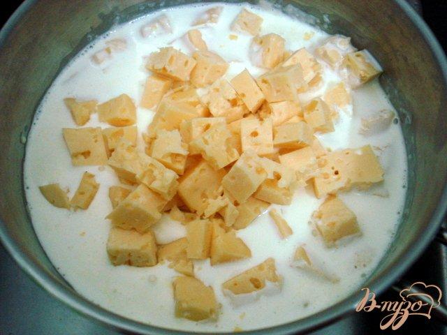 Фото приготовление рецепта: Закусочный торт грибной шаг №5