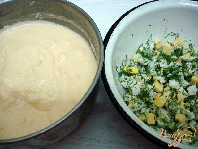 Фото приготовление рецепта: Закусочный торт грибной шаг №6