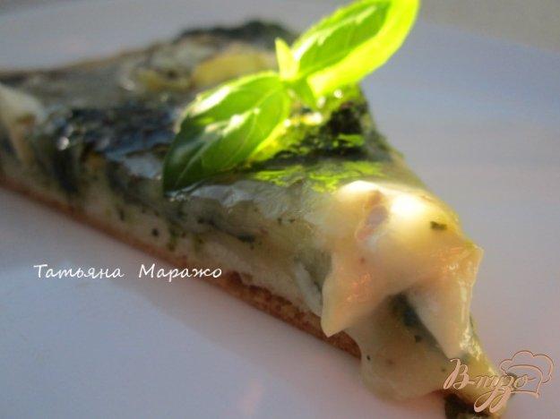 Рецепт Пицца со шпинатом и козьим сыром
