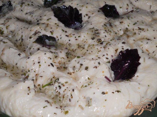 Фото приготовление рецепта: Фокачча с базиликом шаг №6