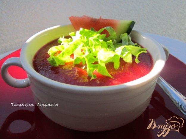 фото рецепта: Гаспачо со свеклой и арбузом