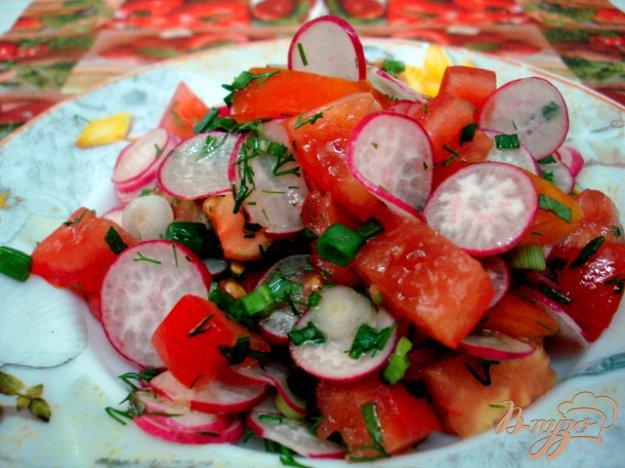 Рецепт Салат из редиса, помидоров и мяты