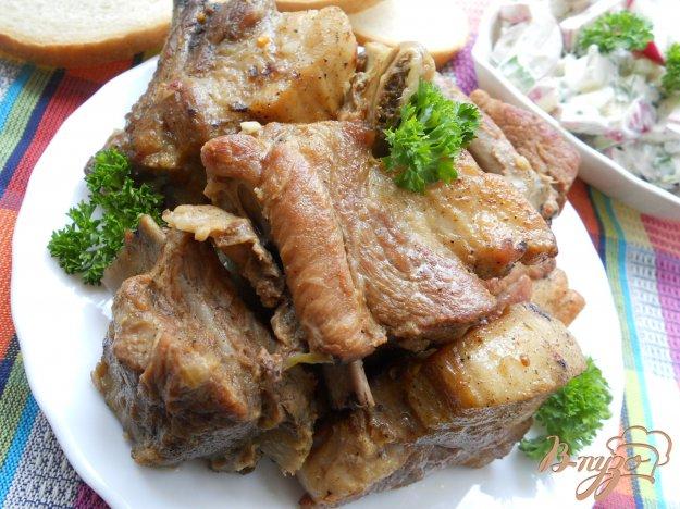 Рецепт Свиные ребра тушеные