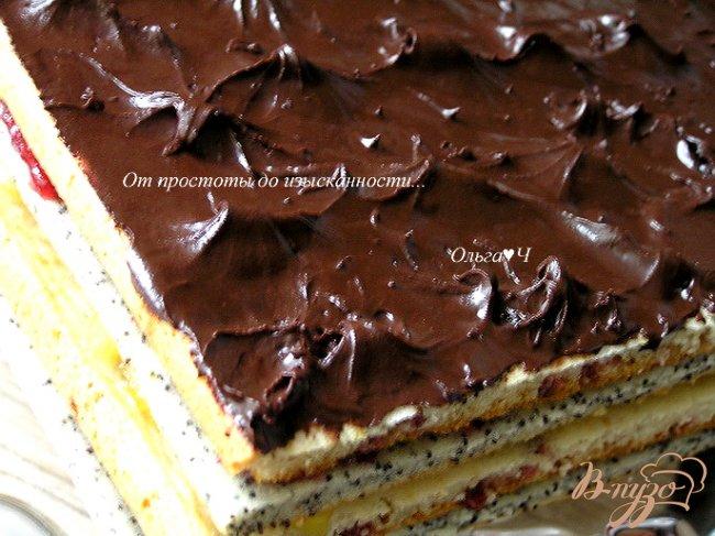 Фото приготовление рецепта: Клюквенное пирожное с ананасовым джемом шаг №17