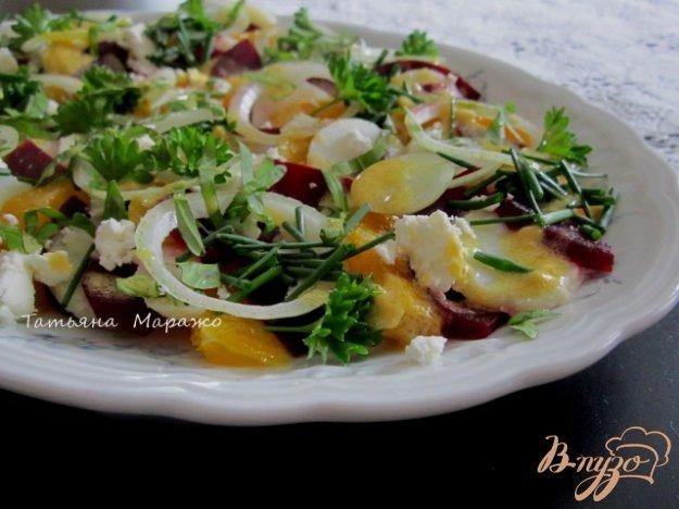 Рецепт Овощной салат с апельсином и сыром Фета