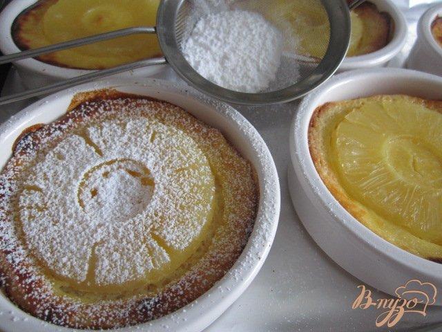 Фото приготовление рецепта: Гренки с ананасом шаг №7