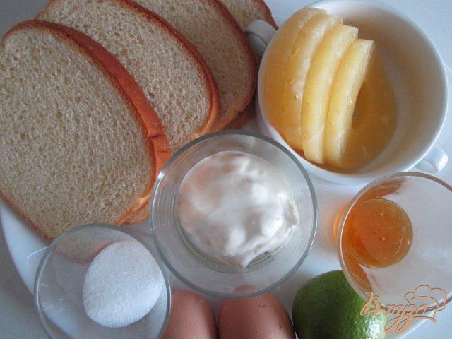 Фото приготовление рецепта: Гренки с ананасом шаг №1